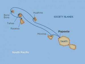 Monica cruise Tahiti map