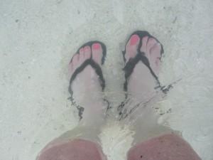 Monicas feet Tahiti