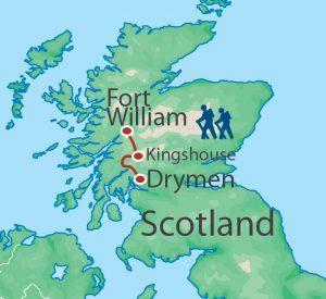 Utracks West Highland Way WHW map